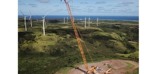 Liebherr's LR 11000 crawler crane deployed to Hawaii